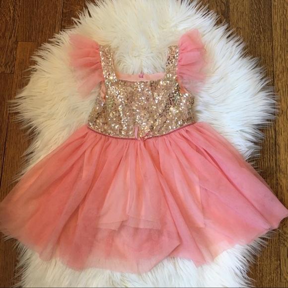 eafdba9bd7ae Popatu Dresses   Beautiful Toddler Girls Tulle Sequin Dress 3t ...